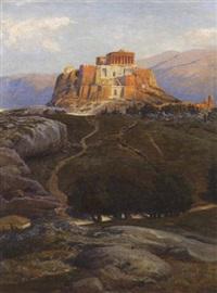blick auf die akropolis von athen by max roeder