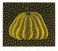 a pumpkin yb-d by yayoi kusama