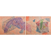 running naked too (diptych) by sam gilliam