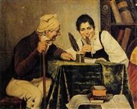 il precettore e la giovane allieva by adolfo bacci