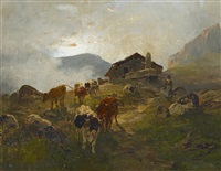 kühe auf der alm by hermann baisch