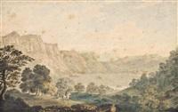 derwentwater, lake district by julius caesar ibbetson