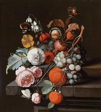 ein blumen- und früchtestillleben mit faltern by david cornelisz heem iii