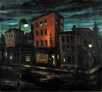night scene #64 by gordon steele