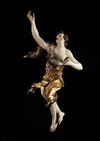 geschnitzte engelsfigur by josef mathias götz