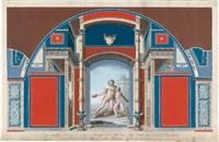 der trunkene herkules in einer scheinarchitektur (after franz anton von maron) by angelo campanella