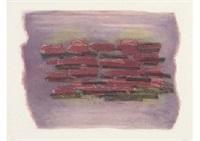 paysage laboure (set of 2) by jean fautrier
