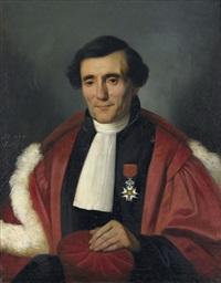 französischer richter mit orden der ehrenlegion by auguste barthelemy glaize