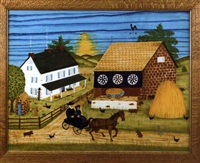 farm scene by bill rank