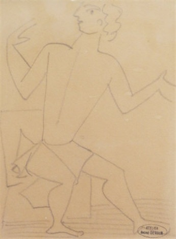 seated man by andré derain