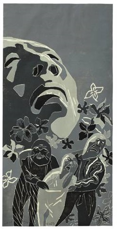 2001.1.9 (on 3 sheets) by fang lijun