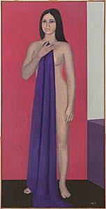 flicka med lila skynke by jean-claude stehli
