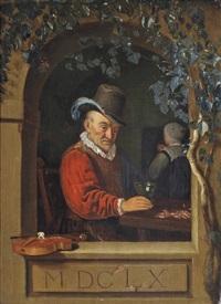 the old violinist by frans van mieris
