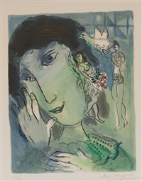 le poète by marc chagall