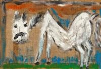 weisses pferd by rené gertsch