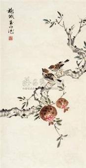 双雀图 (flower and bird) by lin yushan