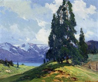 western landscape by frank charles peyraud
