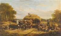 haying time - the first load by edmund aylburton willis