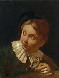 knabe mit einem vogel by giovanni battista piazzetta