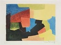 composition noire, jaune, bleue et rouge by serge poliakoff