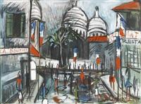 auf dem montmartre in paris by wilhelm goliasch