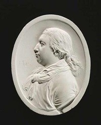 reliefmedaillon (portrait von nicolas guibal?) by johan heinrich von dannecker