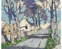 a village road, angus by john guthrie spence smith