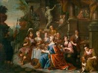 das festmahl der kleopatra by johann heinrich tischbein the elder