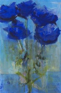 blaue rosen by rainer fetting