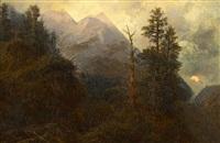 alpenlandschaft am abend by eduard karl biermann