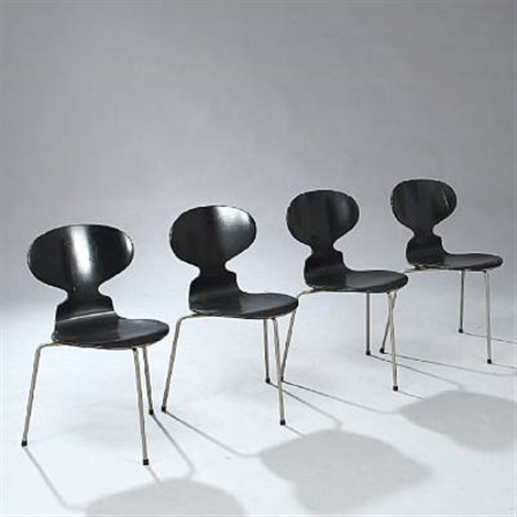 the ant chair set of 4 by arne jacobsen