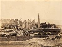 ansichten aus ägypten. tempel von karnak (3 works) by wilhelm hammerschmidt