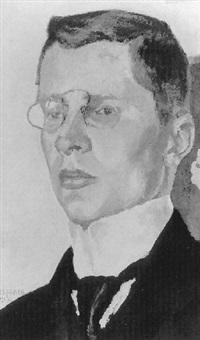 selbstportrait mit brille by otto wolfgang spies