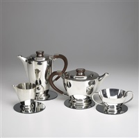 coffee and tea set (4 pieces) by adie brothers (co.)