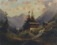bergbauernhof am gebirgsbach by louis sckell