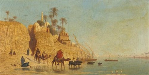 manfalout haute egypte by charles théodore frère bey frère