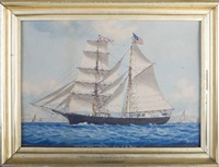 the american brigantine tubal cain by louis françois prosper roux