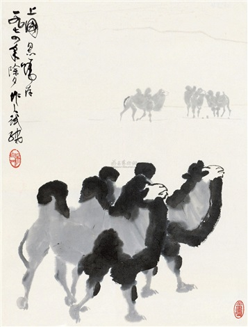 沙漠之舟 camels by wu zuoren