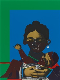 mother and child (aus: conspiracy: the artist as witness) 1971 by romare bearden