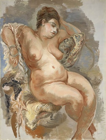 nudo seduto by george grosz