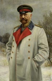 porträtbildnis des paul von hindenburg by heinrich iser