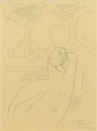 composition with figures and trees by wilhelm freddie