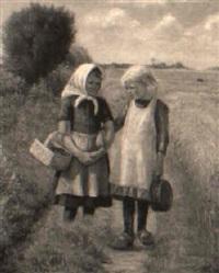 to små piger på markvejen by holga elise amalie reinhard