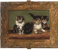 three kittens by arthur batt