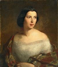 porträt einer jungen dame by wilhelm august lebrecht amberg