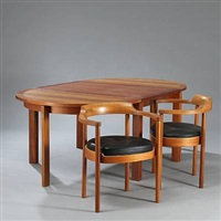 dining room suite (model m-40) (set of 10) by henning jensen and torben valeur
