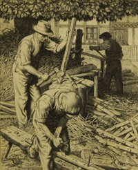 the hurdle makers and brook farming (2 works) by stanley anderson