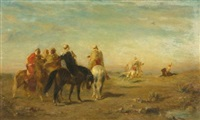 arabs on horseback by eugène fromentin