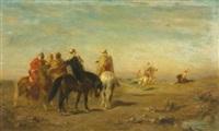 arabs on horseback by eugène fromentin