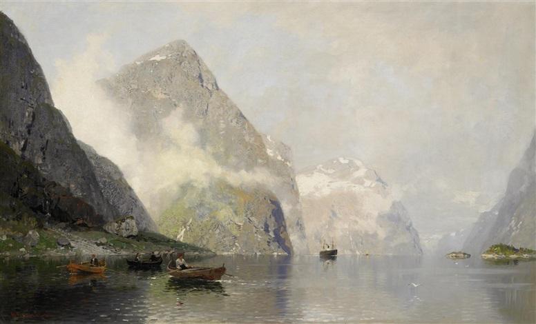 sommertag im fjord by georg anton rasmussen
